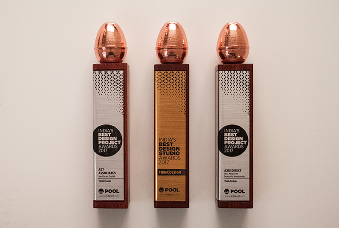 Think Design won three awards at India's Best Design Awards