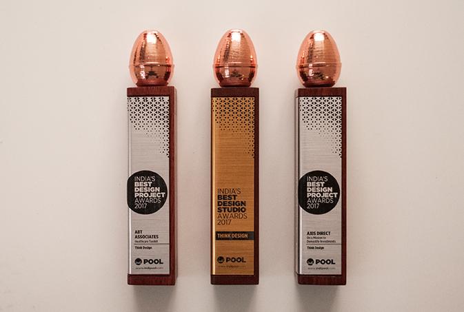 Think Design won three awards at India's Best Design Awards