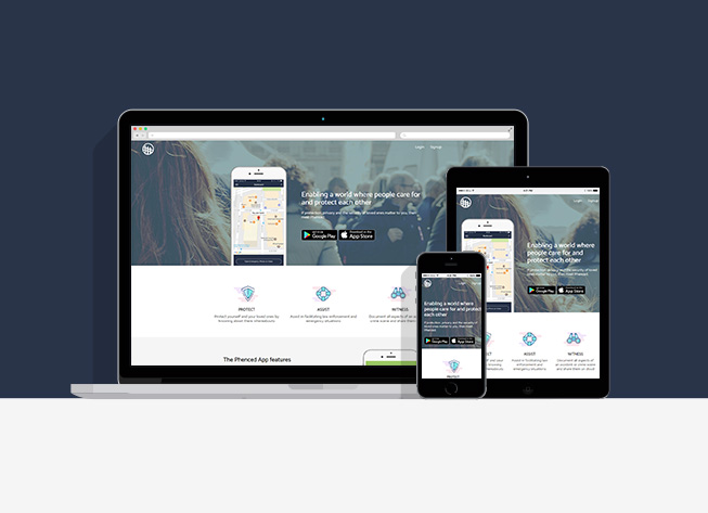 Personal security app, Phenced app and website