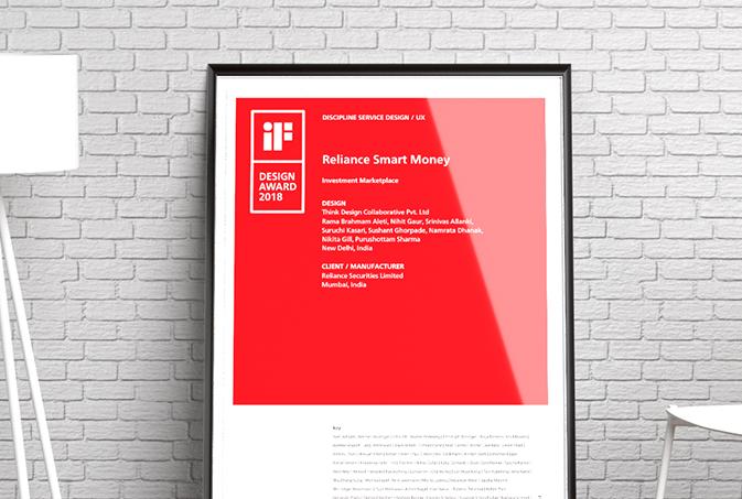 Think Design wins iF Design Award 2018 for Service Design/ UX