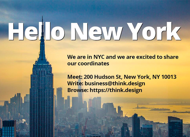 We are thrilled to share our coordinates in NYC.