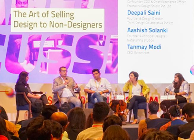Deepali and Orianne represent Think Design in Nasscom Design Summit