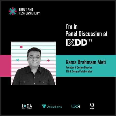 Rama speaks at IXDD 2019