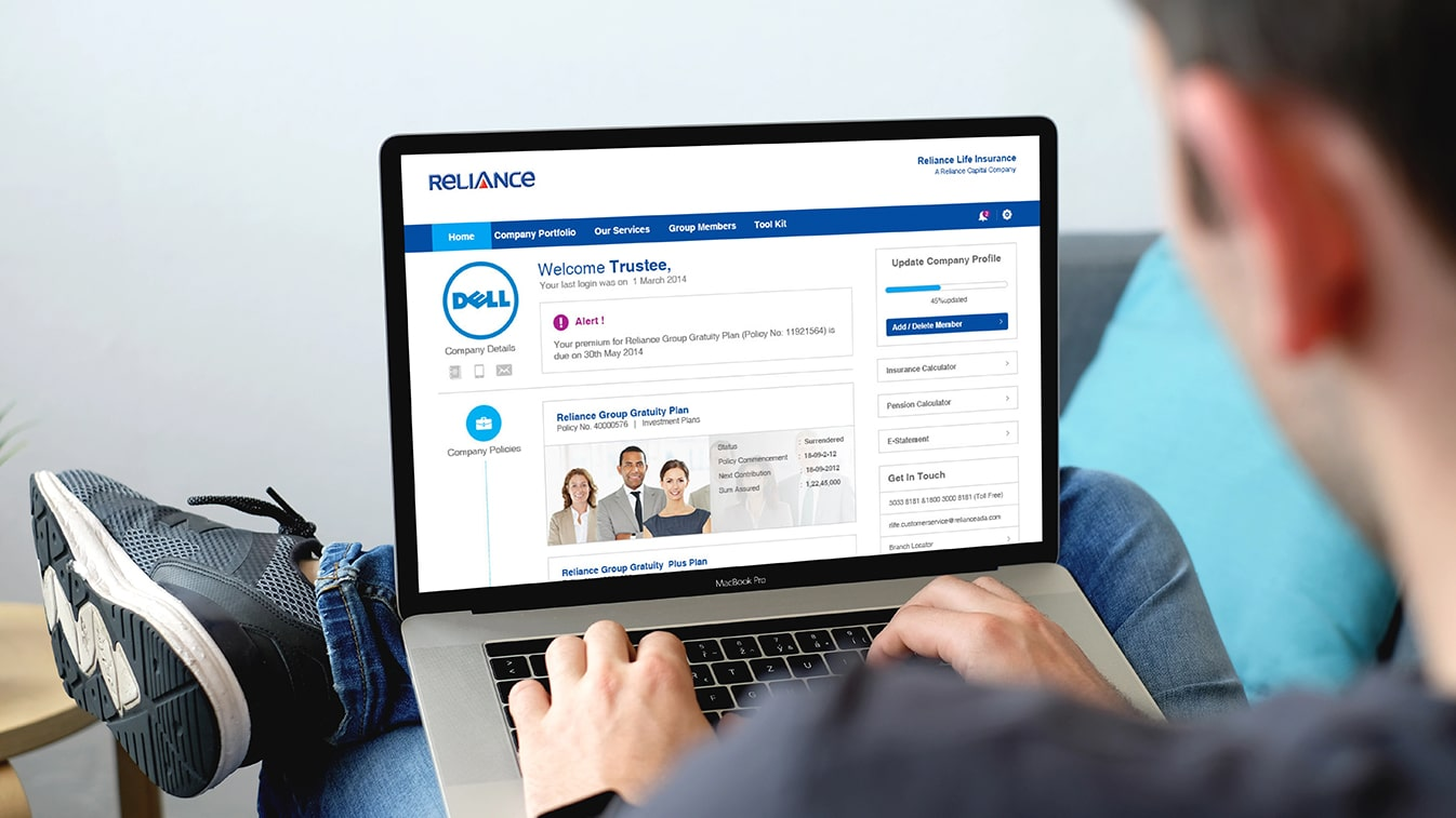Reliance Life Insurance: Self service to empower users