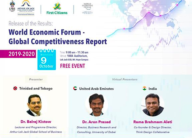 Rama Aleti was part of World Economic Forum- Global Competitiveness Report event.