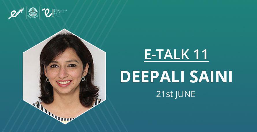 E-Talk on Entrepreneurship by Deepali Saini.