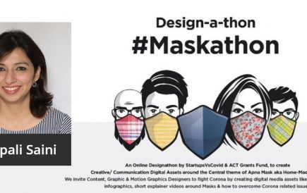 Deepali Saini is the jury member for Apna Design Apna Mask competition