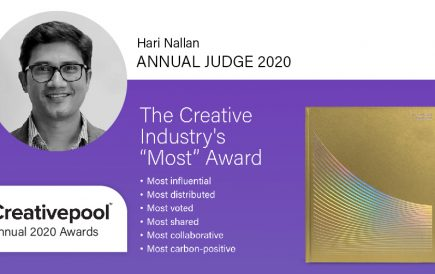 Hari Nallan is the jury member for this year's Creativepool Annual awards