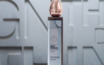Our work for Kryptographe has been awarded India's Best Design Project Award