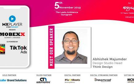 Abhishek Majumder speaks at Mobexx 2019.