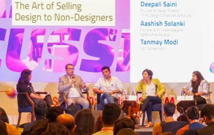 Deepali and Orianne represent Think Design in Nasscom Design Summit